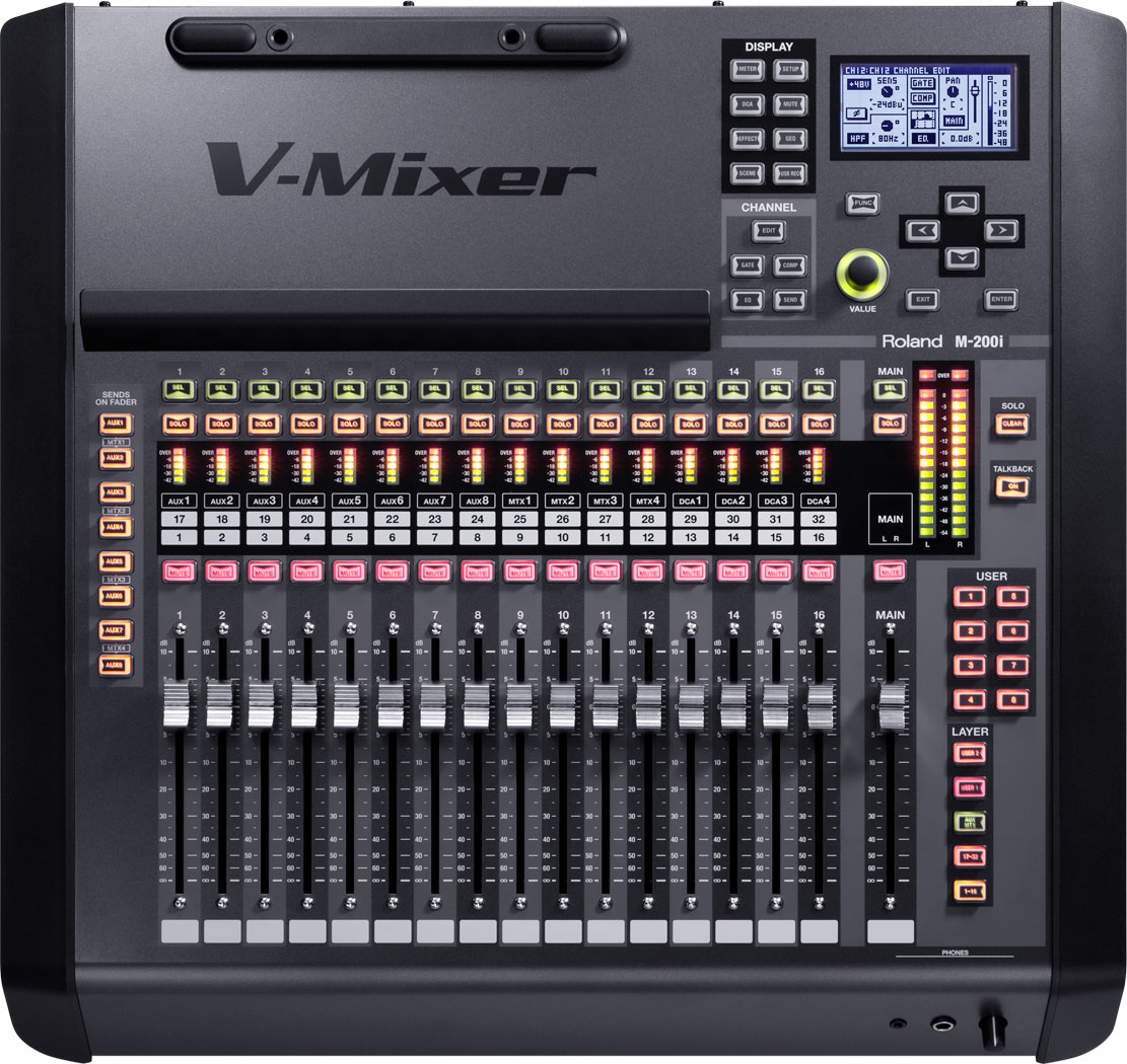M200i 32-Channel Live Digital Mixing Console Image