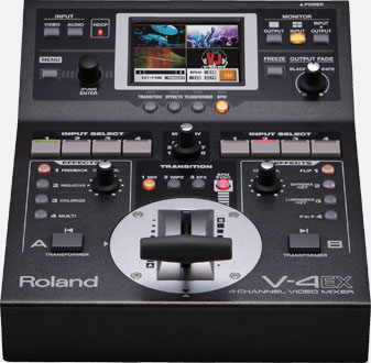 V-4EX 4-Channel Digital Video Mixer with Effects Image